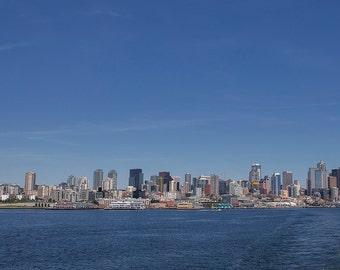 Seattle Cityscape Panorama Print - 10x20 Landscape Photo Print