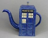 TARDIS Teapot: Ready TO SHIP