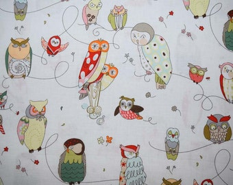 1/2 Yard of Spotted Owl Fabric from Alexander Henry Fabrics