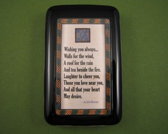 Irish Blessing Quote, Celtic Paperweight, Irish Paperweight, Quote Paperweight, Rectangle Paperweight, Glass Paperweight, Celtic Decor