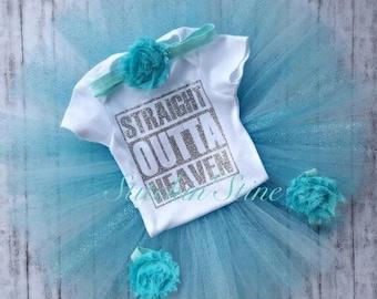 Straight Outta Heaven Eclusive- Original Designer- Straight Outta Heaven Y'all-Straight  Outta Heaven Honey-Custom-Girl- Boy- Ready To Ship