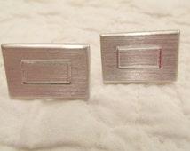 Vintage Cuff links silver tone metal