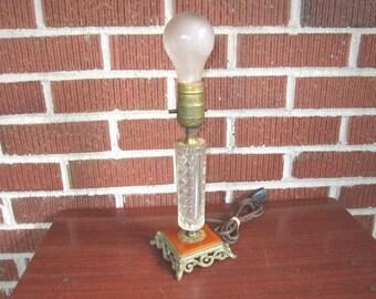 Vintage 1920s/30s Lovely Metal Glass and Bakelite Boudoir Lamp