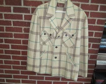 Vintage 1950s/60s Men's Long Sleeved Merrill Woolens 100% Wool Shirt