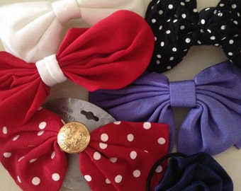 vintage hair clips Lot of 6 PREPPY 80's 90's ponytail holder fancy dope RETRO bow