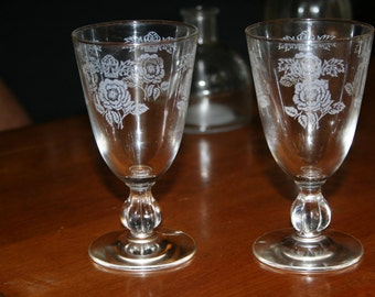 Enameled Wine Glasses