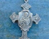 PRIVATE LISTING for Stephanie ONLY Antique French Vintage Antique St. Francis of Assisi Catholic Cross Crucifix Medal Religious Rosary