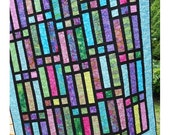 Quilt Pattern -  Gateway To Paradise - Jelly Roll or Bali Pop  - Quick  Easy Lap / Throw Quilt - Hard Copy Version