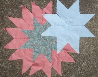 Vintage Quilt Blocks - Sunburst or Star Pattern