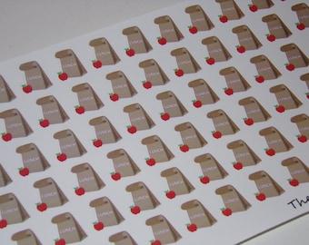 66 Lunch Bag Stickers for your Erin Condren Life Planner / Calendar / School Stickers
