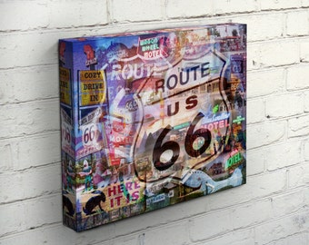 The Mother Road Canvas - Route 66, USA