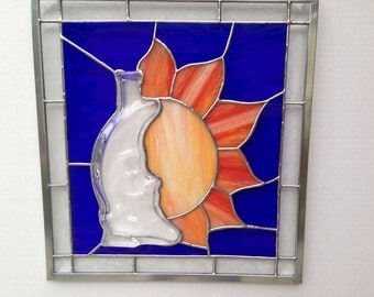 Moon & Sun Stained Glass