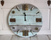 Junk Chic- Funky Wood Clock- Reclaimed Pallet Wood Clock- Mantique Clock- Industrial