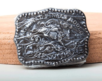 Vintage 1986 Nationals Finals Rodeo Hesston Fred Fellows Belt Buckle