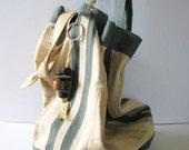 Bucket Bag Utility Reclaimed Metal Grunge Tote Steampunk Bag