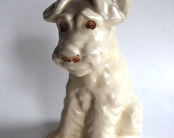 Vintage Pottery Dog, Classic, White