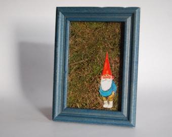 Vintage Gnome Moss Wall Art