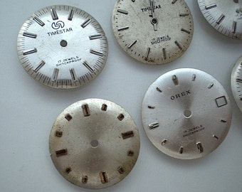 6 vintage steampunk watch faces (CM6)