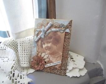 Inspirational Card - Handmade Card - Vintage/Victorian Card