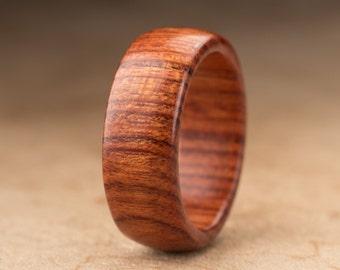 Size 8 - Mopani Wood Ring No. 110