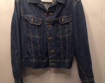 1970's Lee 101-J jean jacket size 38