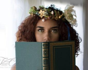 Bridal crown, wedding crown, gold bridal crown, boho wedding crown, golden crown, golden halo, wedding crown, crown,