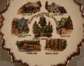 Vintage Plate / Sequoia National Park/ Kings Canyon National Park/ Vintage Travel Souvenir /National Park