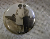 Photo Hand Mirror - Young Lovers In The Country - REDuCED