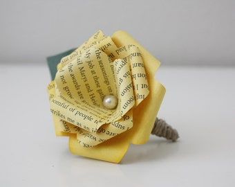 Frank's Yellow Book Page Boutonniere