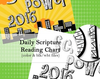 Daily Scripture Reading Chart for LDS Primary Theme 2016