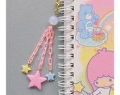 Planner Charm Phone Charm Bag Charm Kawaii Charm Pastel Star Charm Dust Plug Zipper Pull Sweet Lolita Fairy Kei Retro 80s Cute Charms