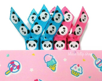 4pc Planner Clips Planner Accessories Cute Panda Kawaii Planner Clips Planner Paperclips Ribbon Paper Clips Bookmarks
