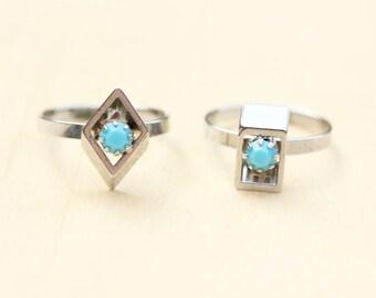 Silver Geometric Ring