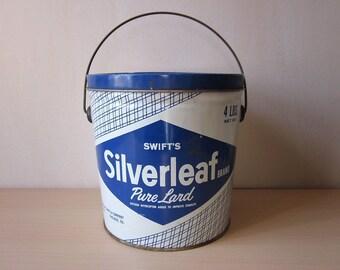 Swift's Silverleaf Lard Tin