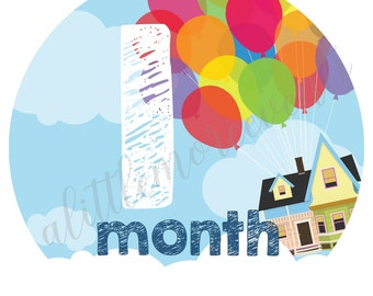 Baby Month Stickers - Pixar's UP!