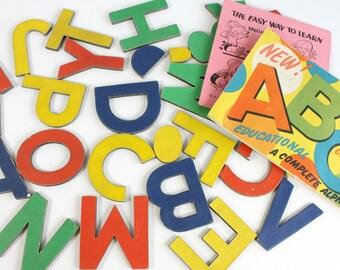 Vintage Alphabet Letters Die Cut Cardboard