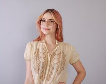 Vintage 80s EYEGLASSES / 1980s Oversized Gloria Vanderbilt Transparent Pink & Gold Glasses Frames