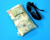 Roomy Sunglasses Case in a Soft Yellow Design