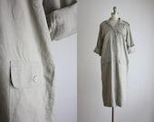 distressed linen shirtdress