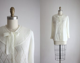 vintage lattice cardigan