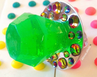 ring pop ring kawaii jewelry ring resin by athinalabella