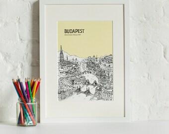 Personalised Budapest Print