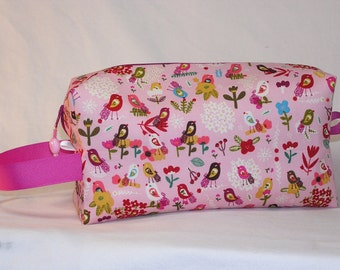 Petite Fleurs Busy Birds Project Bag - ORGANIC