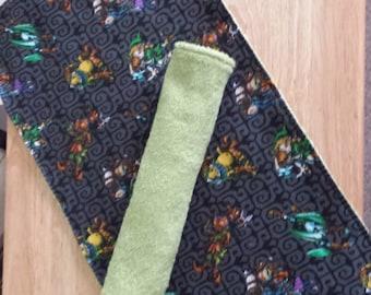 XL Pair Terry Cloth Burp Cloths ( Zelda themed)