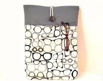 Eyeglasses iPad Air Case, iPad Air Cover, iPad Air Sleeve, iPad Air 2 Sleeve, iPad Air 2 Cover,iPad Air 2 Sleeve, iPad Cover Optometrist Bag