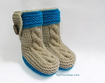 Knitting Pattern- Baby Booties Pattern- Baby Shoes Pattern- Knitted with Two Needles n78