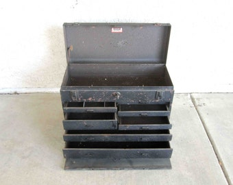 Vintage Kennedy Kits No. 520 Seven Drawer Machinist Tool Box. Circa 1960's.