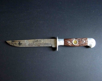 Vintage Knife with Compass in the Handle