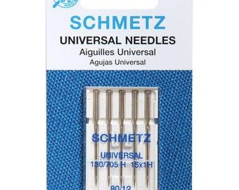 Schmetz Universal Machine Needles 80/12 Package of 5