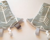 Drool Pad for SSC Carriers | Curved Drool Pads | Regular Drool Pads | Cool Arrows Grey